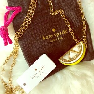 🍋 NEW Kate Spade Lemon Gold Necklace 🍋